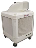 WayCool portable evaporative cooler with 1 hp 2-speed blower and easy fill / water gauge feature