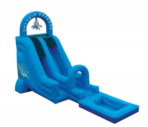 Dolphin Express with Pool- Inflatable Wet and Dry Slide