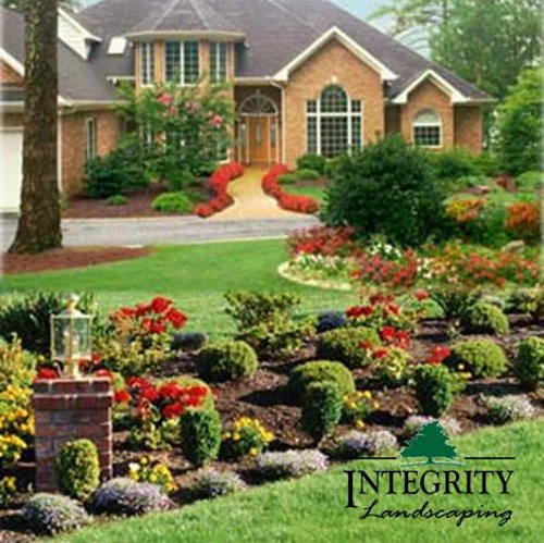 Shrubs & Annual Bed for Curb Appeal