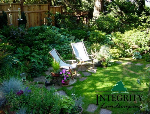 Shrubs, Perennials & Natural Stone Landing