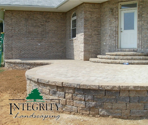 Raised Paver Patio with Rounded Edge