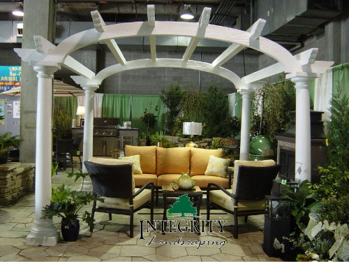 White Arch Pergola at our Home Show Display