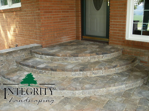 Curved Paver Steps