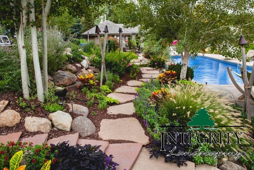 Flagstone Path Around Pool Area