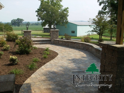 Paver Path with a Soft Curve