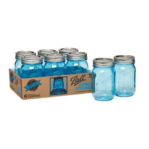 Ball® Heritage Collection blue pint jars