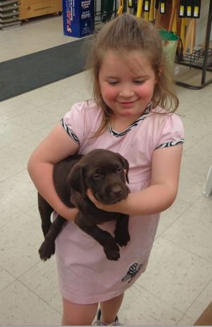 Cheyenne with her puppy Cocoa