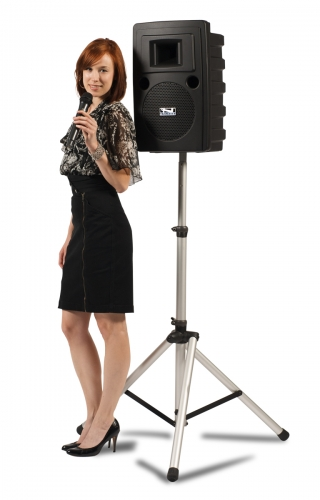 Portable Sound System with Stand and Microphone
