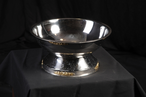 Punch Bowl, Gold/Silver, 16in
