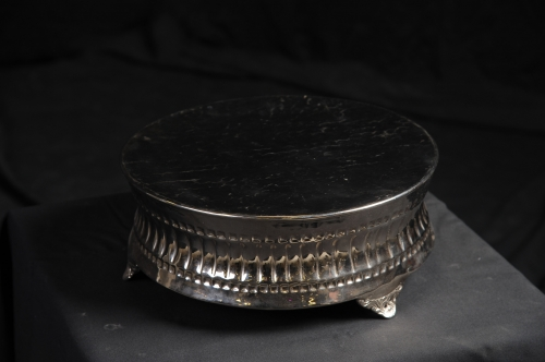 Cake Stand, 14in, Round, Silver