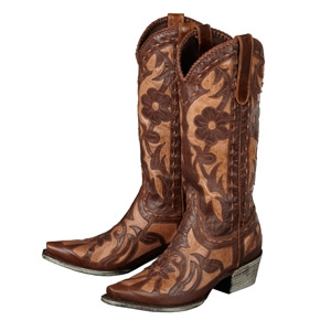 Poison in Distressed Brown on Brown Ladies Western Boots