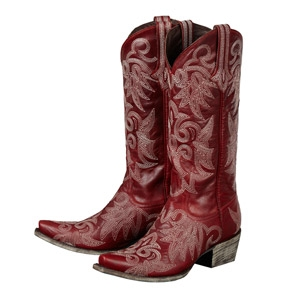 Wild Ginger in Red Ladies Western Boots